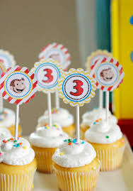 13 26 curious george cupcake toppers