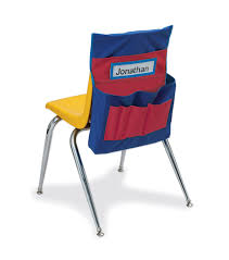 Chair Storage Pocket Chart Pacon Pocket Chart Chair Storage Blue Red Pack Of 2