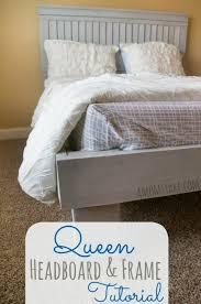 diy queen headboard and frame