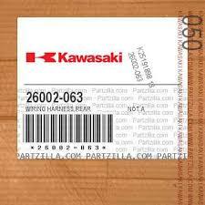 kawasaki 26002 063 wiring harness rear not available partzilla com 26002 063 wiring harness rear not available