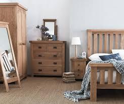 Oak Bedroom Wellington Oak Bedroom Furniture 5ft Kingsize Bed Frame Ebay