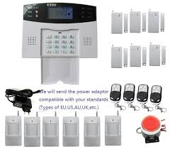 diy sms gsm alarm system with english chinese czech russian spanish