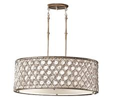 elstead feiss lucia 3 light shade pendant with cream fabric burnished silver fe lucia p a