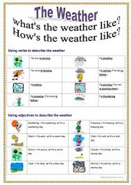 33 Free Esl Whats The Weather Like Worksheets