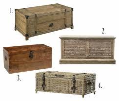 farmhouse style wooden trunk coffee
