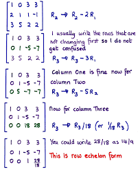 next using matrices to solve a system of equations