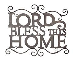 metal lord bless this home wall sign on bless this home metal wall art with amazon metal lord bless this home wall sign home kitchen