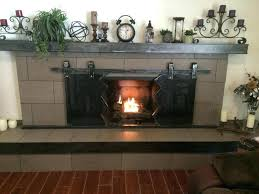 sliding fireplace doors stoll industrial in screen inspirations 10