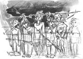 Image result for children IN NAZI CAMP CARTOON
