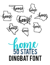 Dingbat Fonts For Designers Home 50 States Dingbat Font Dingbat Fonts Cricut Cricut