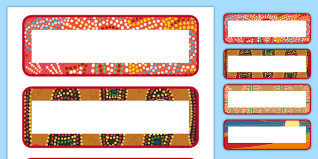 Labels With Border Editable Aboriginal Style Border Labels Editable