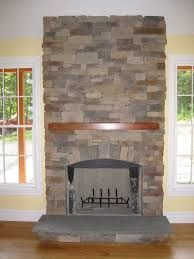 Living Room Natural Stacked Stone Veneer Fireplace Stack Stacked Stone Veneer Fireplace