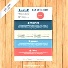 Free Colorful Resume Templates Simply Coloured Resume Templates Free Downloadable Download 100 32