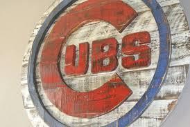 this 3d chicago cubs baseball wall art