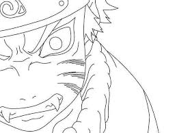 Naruto Coloring Pages Nine Tailed Fox Coloring Page