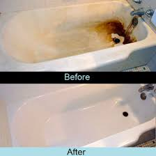 before and after photo bathtub project