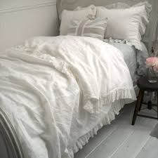 ruffle duvet cover marie linen ruffle duvet cover a cottage in the city