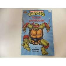 teenage mutant ninja turtles vintage random house story book adventure return of the shredder