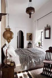 Bohemian Moroccan Bedroom With Unique Lamps