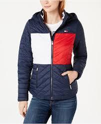 Flag Hooded Puffer Jacket