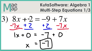kuta algebra 1 multi step equations part 1