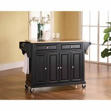 Crosley Furniture Kitchen Cart Crosley Furniture Natural Wood Top Kitchen Cart Walmartcom