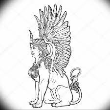 эскиз тату сфинкс 20082019 043 Sphinx Tattoo Sketch Tatufoto