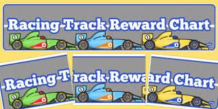 24 Bright Race Track Reward Chart