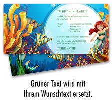 Einladungen Im Meerjungfrauen Design Ab 65 Cent Einladung