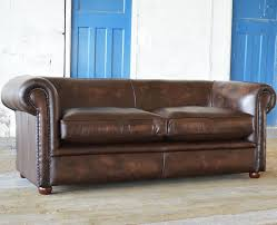 chesterfield sofa leather 2 person 3 seater antique deco