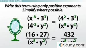 negative exponents writing powers of fractions and decimals lesson transcript study com