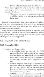 About This Book Pot Limit Omaha 8 Revealed 1 Pdf