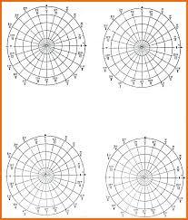 Circle Divider Template Polar Graph Paper Generator