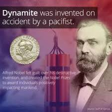 「1867 Alfred Bernhard Nobel opened dynamite」の画像検索結果