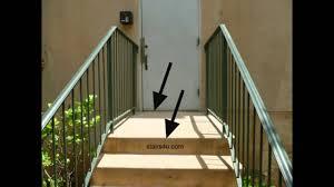 Stairway Building Code Information Doors And Landings Youtube Door Landing Stairs