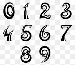 Cool Number Fonts Racing Number Fonts Graphic Design Free Transparent Png Clipart
