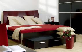 black white and red bedroom decor
