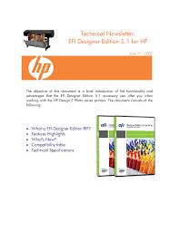 Hp Designer Efi Designer Edition 5 1 For Hp Md Direct Manualzz Com