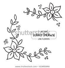 Simple frame design School Project Simple Ornate Flower Frame Design Sketchy Hand Drawn Element Vector Illustration Shutterstock Simple Ornate Flower Frame Design Sketchy Stock Vector royalty Free