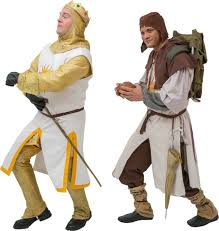al costumes for monty python s spamalot king arthur and patsy