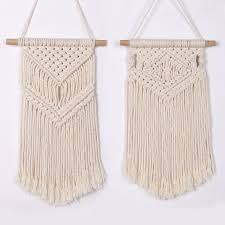 nordic fringe wall hanging hand woven