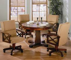 Card Table Chairs With Casters Home Chair Designs - Casters for dining room chairs