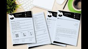 Where To Get A Resume Made Modern Cv Resume Template Made In Microsoft Word Youtube