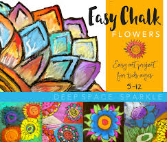 easy chalk flowers art project for kids age 5 12 connect art project with