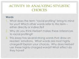 module racial profiling ppt video online  16 activity