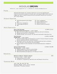 Single Page Resume Template Adorable Single Page Resume Template Valid Word 48 Resume Templates Fresh