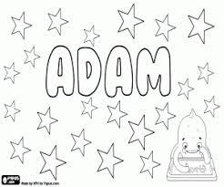 Kleurplaat Adam Naam In Vele Talen Kleurplaten