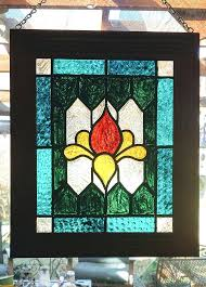 faux stained glass window panels framed panel image 0 paint michaels faux stained glass