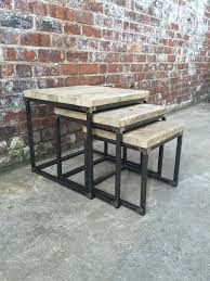 industrial style outdoor furniture. Industrial Style Nest Of Tables Outdoor Furniture