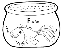 Small Picture F is for Fish in Fish Bowl Coloring Page Download Print Online